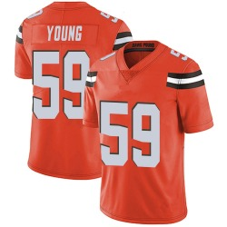 Trevon Young Cleveland Browns Men's Limited Alternate Vapor Untouchable Nike Jersey - Orange