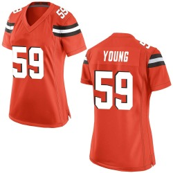 Trevon Young Cleveland Browns Women's Game Alternate Nike Jersey - Orange