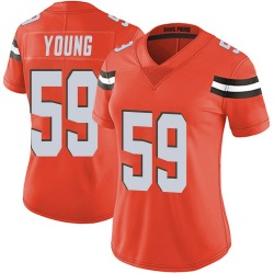 Trevon Young Cleveland Browns Women's Limited Alternate Vapor Untouchable Nike Jersey - Orange