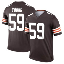 Trevon Young Cleveland Browns Youth Legend Nike Jersey - Brown