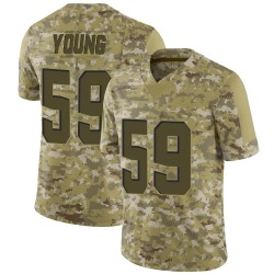 Trevon Young Cleveland Browns Youth Limited 2018 Salute to Service Nike Jersey - Camo