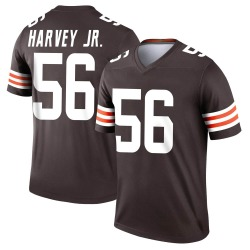 Willie Harvey Cleveland Browns Men's Legend Nike Jersey - Brown
