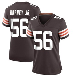 Willie Harvey Cleveland Browns Women's Game Team Color Nike Jersey - Brown