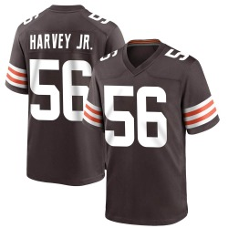 Willie Harvey Cleveland Browns Youth Game Team Color Nike Jersey - Brown