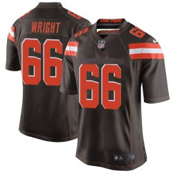 Willie Wright Cleveland Browns Men's Game Team Color Nike Jersey - Brown