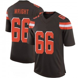 Willie Wright Cleveland Browns Men's Limited 100th Vapor Nike Jersey - Brown