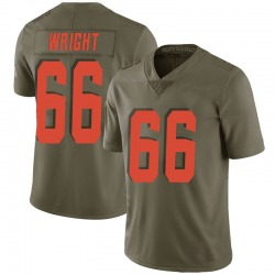 Willie Wright Cleveland Browns Men's Limited Salute to Service Nike Jersey - Green