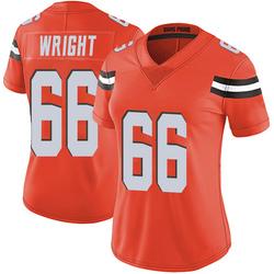 Willie Wright Cleveland Browns Women's Limited Alternate Vapor Untouchable Nike Jersey - Orange