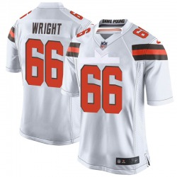Willie Wright Cleveland Browns Youth Game Nike Jersey - White
