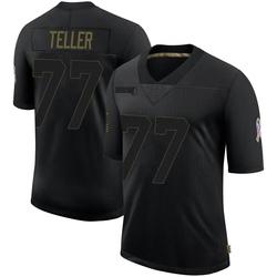 Wyatt Teller Cleveland Browns Men's Limited 2020 Salute To Service Nike Jersey - Black