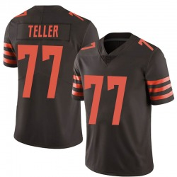 Wyatt Teller Cleveland Browns Men's Limited Color Rush Nike Jersey - Brown