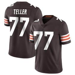 Wyatt Teller Cleveland Browns Men's Limited Team Color Vapor Untouchable Nike Jersey - Brown