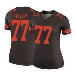 Wyatt Teller Cleveland Browns Women's Color Rush Legend Nike Jersey - Brown