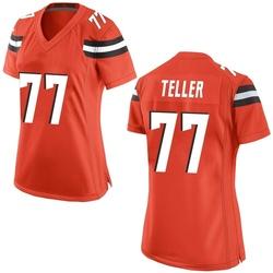 Wyatt Teller Cleveland Browns Women's Game Alternate Nike Jersey - Orange