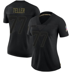Wyatt Teller Cleveland Browns Women's Limited 2020 Salute To Service Nike Jersey - Black