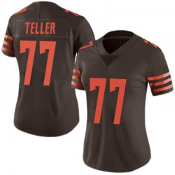 Wyatt Teller Cleveland Browns Women's Limited Color Rush Nike Jersey - Brown