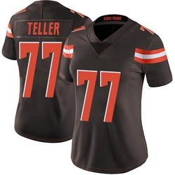 Wyatt Teller Cleveland Browns Women's Limited Team Color Vapor Untouchable Nike Jersey - Brown