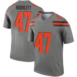 Youth Charley Hughlett Cleveland Browns Youth Legend Inverted Silver Nike Jersey