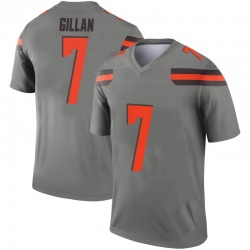 Youth Jamie Gillan Cleveland Browns Youth Legend Inverted Silver Nike Jersey