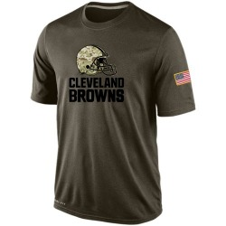 Cleveland Browns Olive Salute To Service KO Performance Dri-FIT T-Shirt