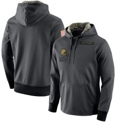Men's Cleveland Browns Anthracite Salute to Service Player Performance Hoodie